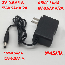 1 個 100 240 v ac dc 電源アダプタ充電器 3 v 4.5 v 5 v 6 12v 7.5 v 9 v 12 v 0.5A 1A 2A 3A eu 米国のプラグ 5.5 ミリメートル x 2.1 ミリメートル
