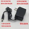 Адаптер питания для зарядного устройства, 1 шт., 100-240 в перем. Тока в постоянный ток, 3 в, 4,5 В, 5 В, 6 в, 7,5 В, 9 В, 12 В, 0,5 А, 1 А, 3 А, штепсельная вилка ст...