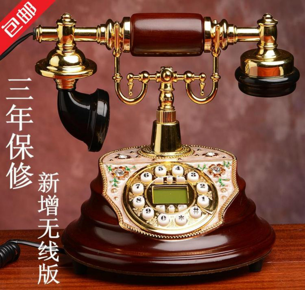 medium resolution of new high end european antique telephone telephone wireless card retro old villa home landline cable in figurines miniatures from home garden on