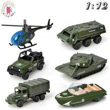 Детский Сплав ABS военная модель моделирование автомобиля Танк транспорт вертолет бронированный автомобиль литье под давлением подарок на день рождения набор игрушек