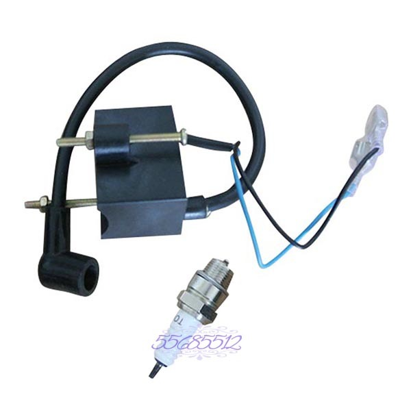 Ignition Coil CDI Module Spark Plug Kit For 49-80cc Motorized Bike Bicycle