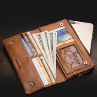 Genuine Leather Handbag Mobile Phone Case For Doogee Y8 Y7 Plus X60 X80 X60L X55 Case 100% Cowhide Multifunctional Mobile Pack