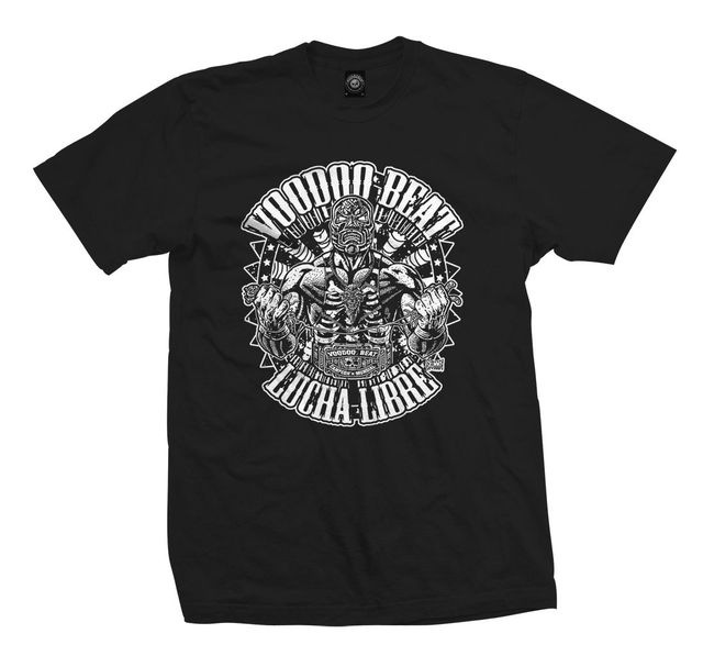 US $12 34 5% OFF|2018 Newest Fashion T Shirt Lucha Libre Mexican Wrestling  Santa Muerte Tattoo Psychobilly Rod O Neck Hipster Tshirts-in T-Shirts from