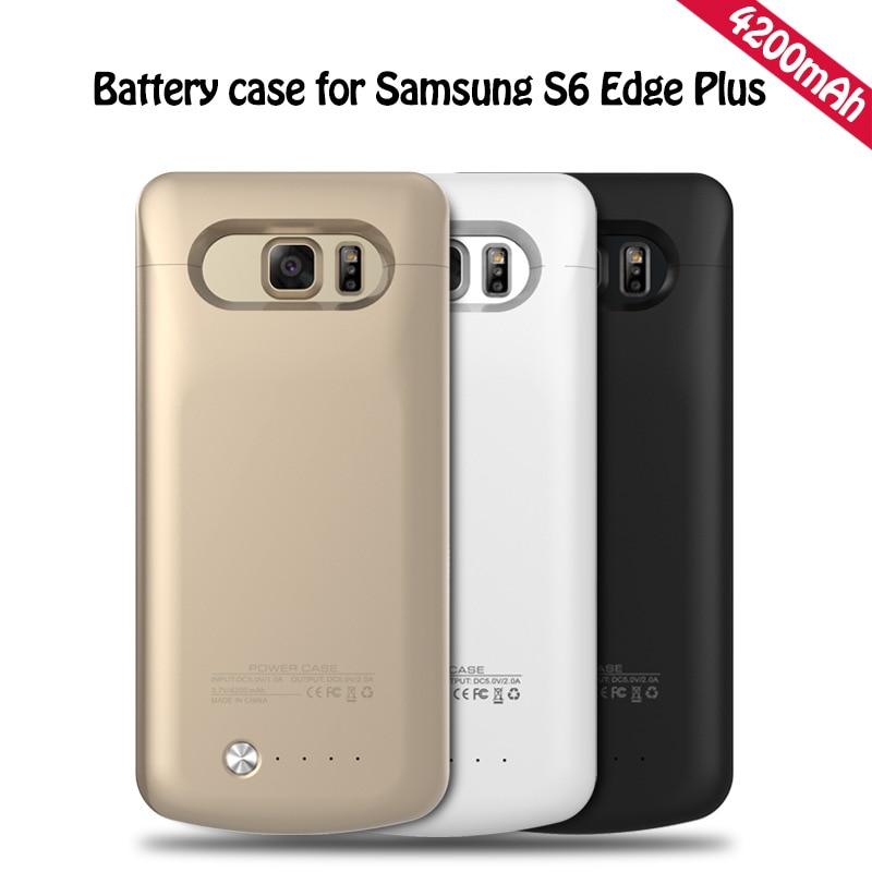imágenes para Caso de alimentación para samsung galaxy s6 edge plus g9250 caso de copia de seguridad Caso Del Cargador de Batería externa para S6 Edge + G9250 4200 mAh Banco de Potencia