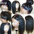 Топ 8А Бразильский Полный Шнурок Человеческие Волосы Парик С Волосами Младенца вьющиеся Волосы Девственницы Glueless Фронта Шнурка Человеческих Волос Парик Для Черных женщина
