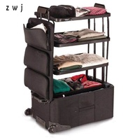 high quality long hotel travel suitcases waterproof rolling luggage foldable travel luggage bags