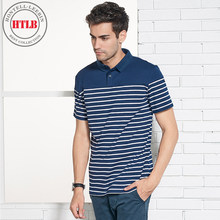 cc6b7fcf4 HTLB New Luxury Brand Men Casual Cotton Silk Polo Shirt Men Summer Mens  Striped Short Sleeve Slim Fit Male Polos Shirts Men