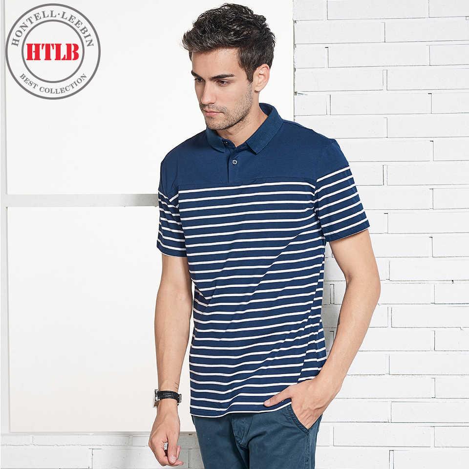 248f3085b6a Htlb Новый Элитный бренд Для мужчин Повседневное хлопок шелк футболка-поло  Для мужчин лето Для