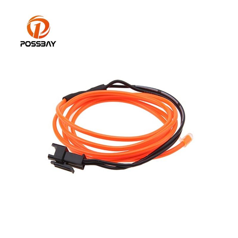 POSSBAY 4M Slow Flashing LED Flexible Neon Light Glow EL Wire Rope ...