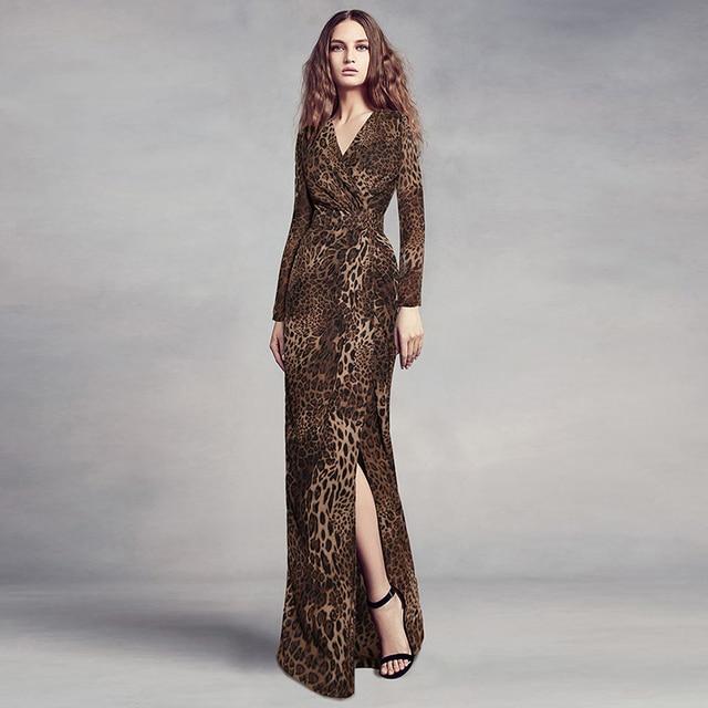 High Quality Newest Fashion 2018 Stylish Designer Runway Maxi Dress