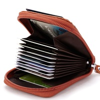 ZXR229 Genuine Leather Card Holder Men Women S Expandable Credit Cards Wallet Coin Bag Large Capacity