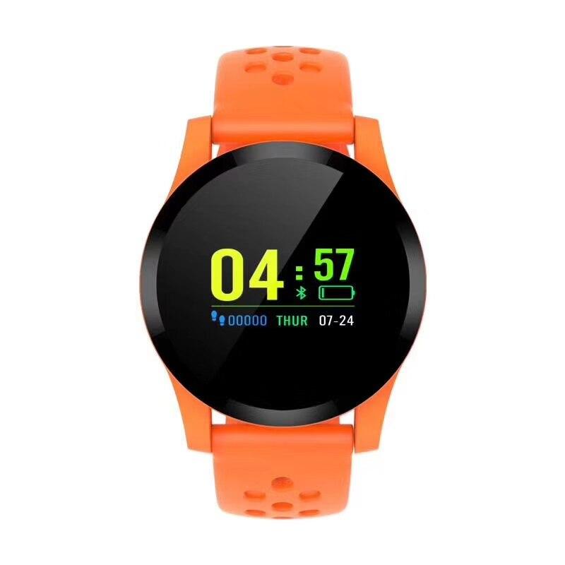 Q9 Смарт-часы водонепроницаемые кровяное давление сердечный ритм ip68 мужские Смарт-часы android часы фитнес-активность умные спортивные часы - Цвет: Оранжевый