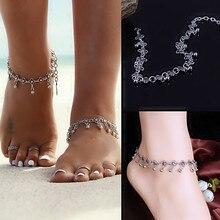 Summer Women Lady Girl New 2016 Charming Trendy Flower Beads Tassel Tibetan Beach Anklet Bracelet Gift