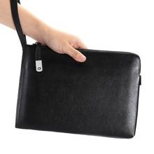 Fashion Clutch Bag Mens Genuine Leather Men Purse New Envelope Hand Large Capacity Man Wallet iPad Card Holder