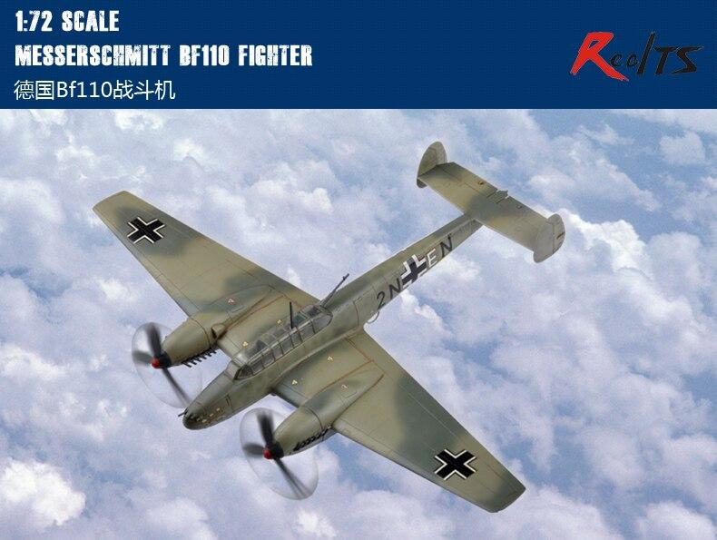 RealTS HobbyBoss 1/72 80292 Messerschmitt Bf110 Fighter Plastic Model Kit