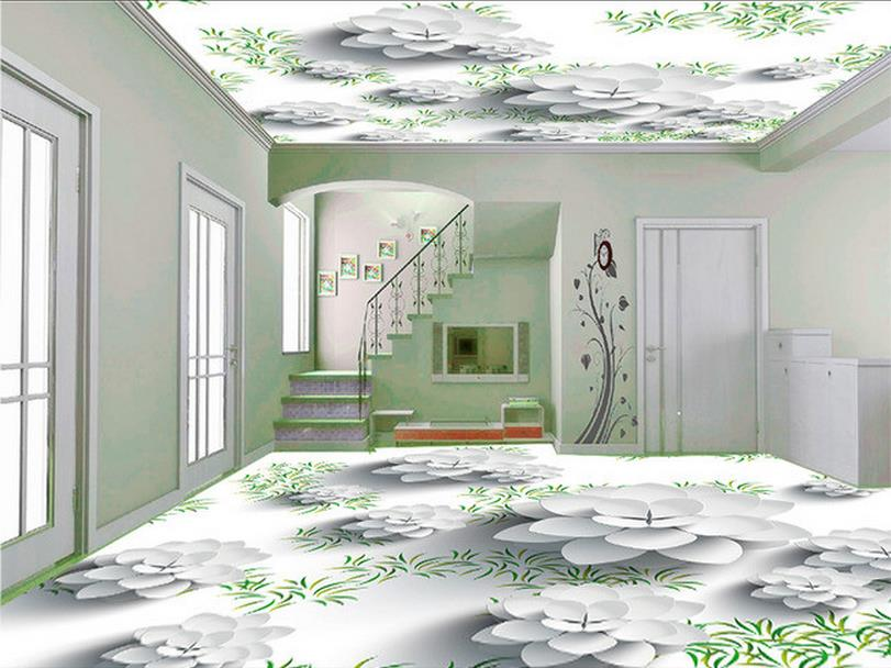 ФОТО 3d wallpaper custom mural beauty PVC self-adhesion floor wallpaper Vector is pure and fresh and stereoscopic 3 d