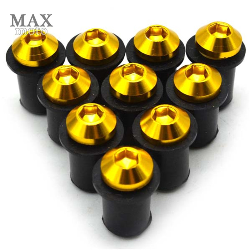 10x CNC motorcycle body light screw Windscreen Bolt 5mm FOR Z900 ZX6R Z1000 Z750 Z800 Kawasaki Z650 636 NINJA 650R ER 6F in Covers Ornamental Mouldings from Automobiles Motorcycles