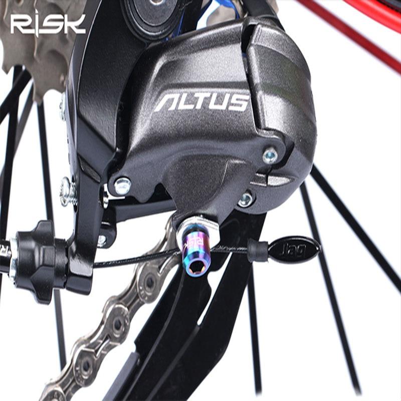 2pcs M5x9 Bicycle Rear Derailleur Bolt MTB Bike Titanium Front Derailleur Screws