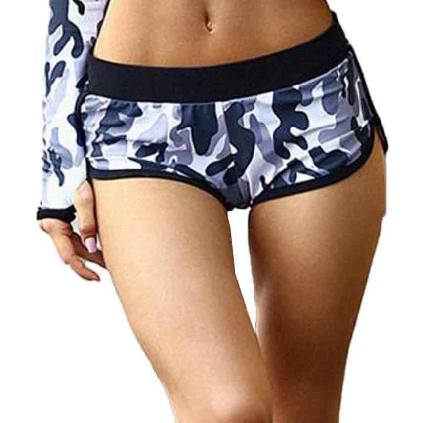 Women yoga Shorts Camouflage printing Sport Running Low Waist famale Quick Dry Fitness Breathable Shorts lady Yoga Shorts#cz