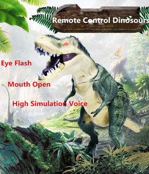Newest Child educational toy High Simulation Remote Control RC Dinosours MG315 eye flash mouth open simulation voice head rotate