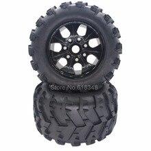 4 unids/lote 150mm RC 1/8 Inserto de Espuma de Neumáticos y Ruedas de Llanta 17mm Hexagonal hub para off road monster truck hsp salvajismo pro 94762 hpi baja