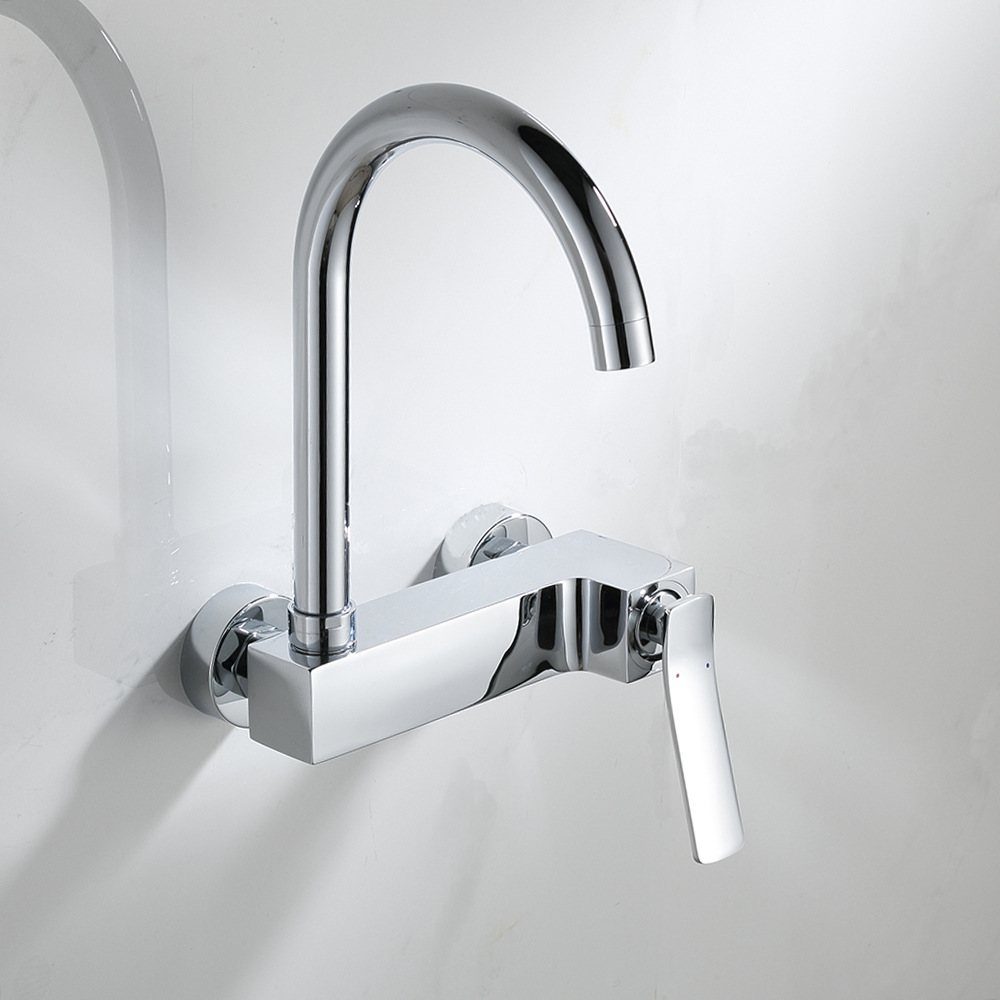wall sink taps promotion shop for promotional wall sink taps on wall mounted rotated mix faucets kitchen chrome brass single handle faucet kitchen accessories sink mixer taps