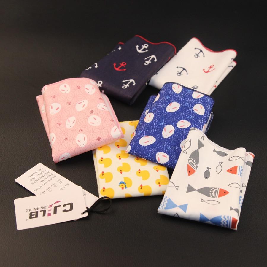 New Korean Fashion Designer High Quality Mens Handkerchiefs Pocket Squares Cotton  10pcs/lot