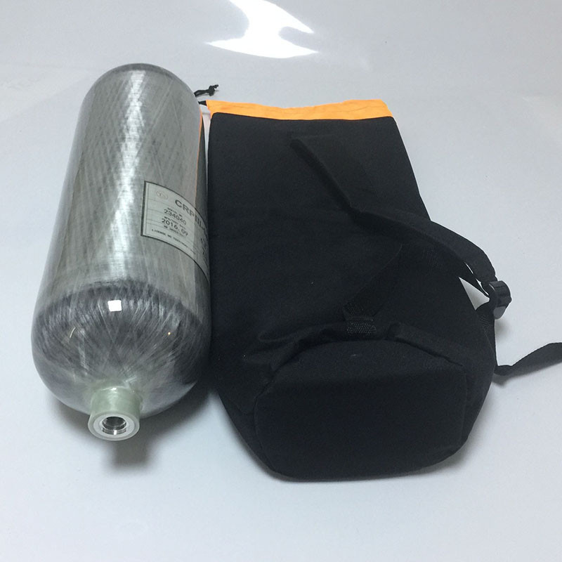 6.8L Carbon Fiber Cylinder Bag For Paintball Tank in 4500 psi 60g co2 tank cylinder empty paintball co2 tank