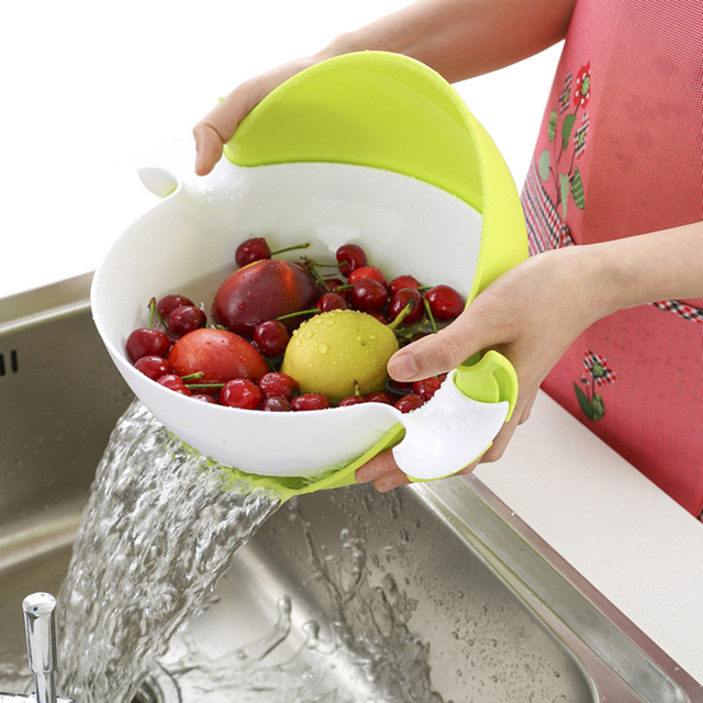 Fruit Vegetable Strainer Double Layer