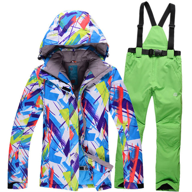 Cheap 2016 Skiing suit snow jackets women Windproof Breathable camping women ski suit snowboard riding camping coat and trousers
