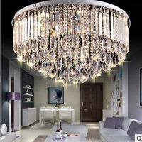 led ceiling crystal lamp round lamps living room crystal luxury bedroom lamp LED lighting fixture led home ceiling lighting