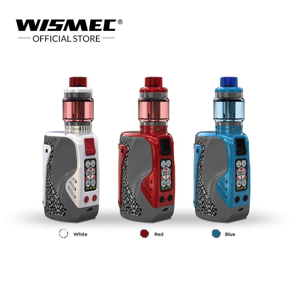 Original Wismec REULEAUX TINKER 300W with COLUMN tank 2ml 6 5ml powered by triple 18650 batteries