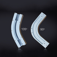 High Quality Dooya 90 135 Degree U Type And L Type Window Electric Curtain Track Rail