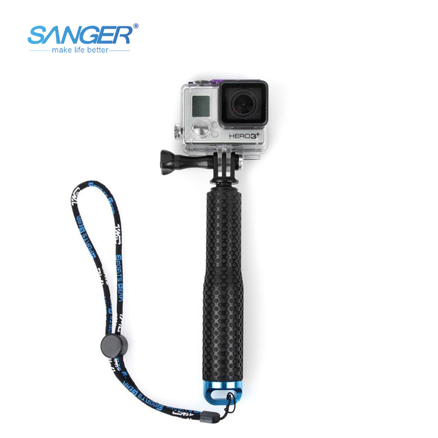 SANGER for Accessories19 Inches 49cm Telescopic Handheld Selfie Stick Monopod Rod for Xiaomi Yi Camera Go pro Hero 5 4 3+ Sjcam