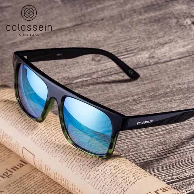 COLOSSEIN Classic Sunglasses Fashion Formal Sunglasses Women Pilot Black Frame UV400 Glasses Female Fishing Driving Eyewear