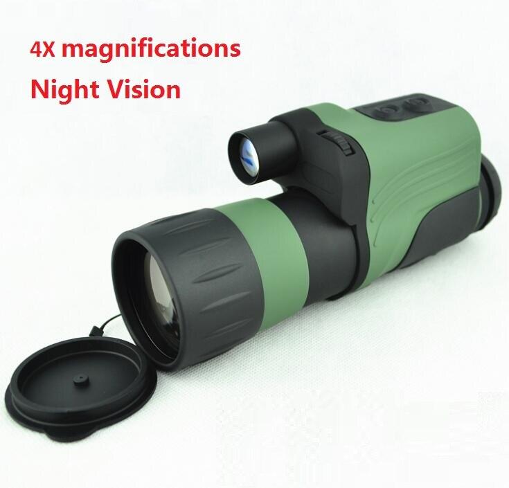 Empfehlen nachtsichtgerät 4x50 Infrarot IR Nachtsichtgerät für Jagd NV Teleskop Max. Klingelte 250 mt 4X magnificatio
