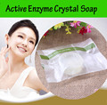 6PCS Natural active enzyme crystal skin whitening soap body skin whitening soap for private parts fade areola