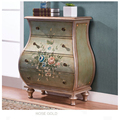 Eco-friendly solid wooden tool storage furniture antique bathroom living room cabinet