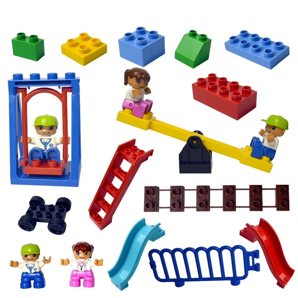 Duploe Large Building Block Bricks Diy Classic Piece Big Size Set Dot Brick Toy Accessories Compatible Legoe Duplo Parts D62663