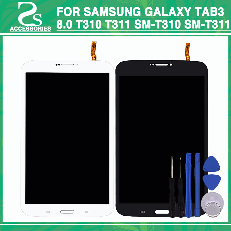 Test 100% For Samsung Galaxy Tab 3 8.0 T310 T311 SM-T310 SM-T311 LCD Display and Touch Screen Digitizer Panel Assembly +Tools new 8 screen parts for samsung galaxy tab 3 8 0 t311 sm t311 lcd display matrix touch screen digitizer sensor free shipping