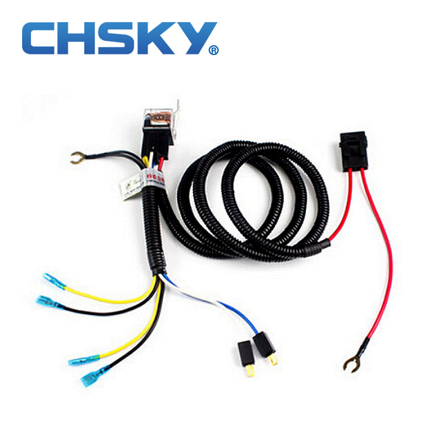 online shop chsky car klaxon horn relay harness 12v car styling rh m aliexpress com dual horn relay wiring harness Headlight Wiring Harness Diagram