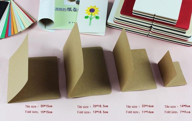 livraison gratuite (100 pcs lot) diy cartes de voeux quilling papier