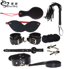 8PCS/LOT New Leather bondage Set Restraints Adult Games Sex Toys for Couples Woman Slave Game SM Sexy Erotic Handcuff