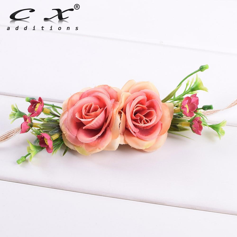 Aliexpress Buy Rose Daisy Flower Headband Floral Hairband Hemp