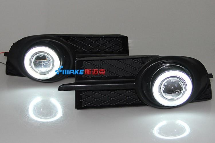 CCFL ангел глаз DRL дневного света + галогеновые противотуманные фары + объектив проектора + противотуманные лампы чехол для Chevrolet лова 2006-2008, 2шт