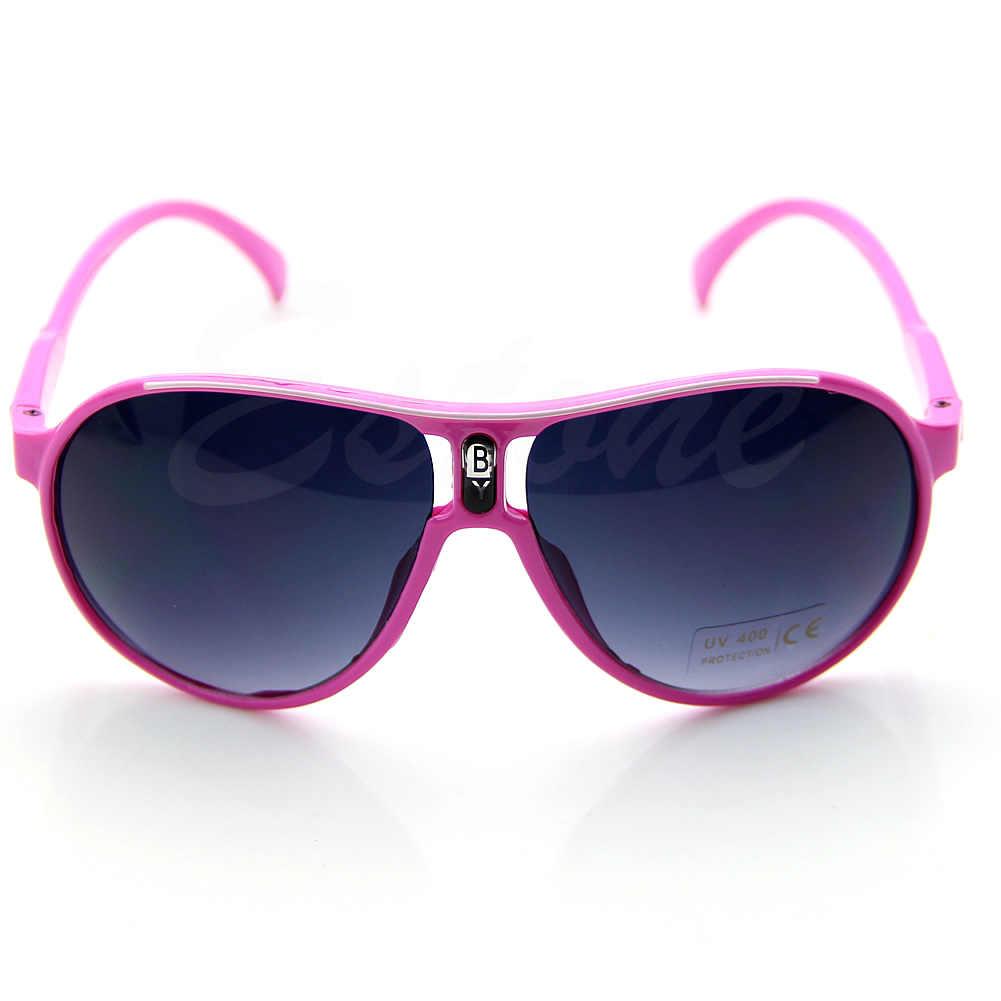 Moda Çocuk Çocuklar Sevimli PC Çerçeve AC Lens UV 400 Serin Güneş Gözlüğü