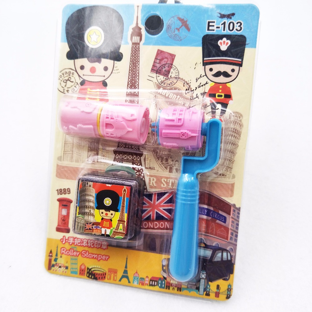 Hot selling British soldiers cartoon self stamp art stamps stamps children toy party favors painting templates DIY supplies part