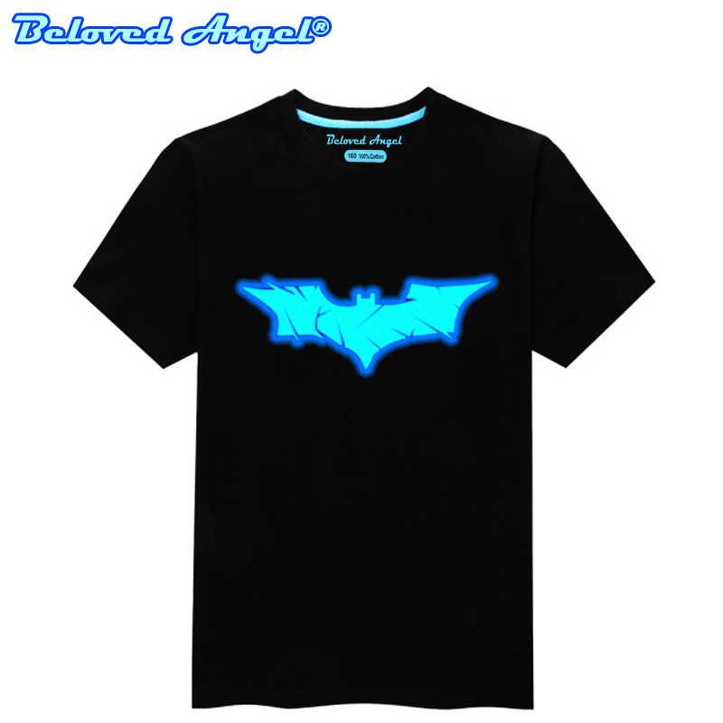זוהר פנים 3D דפוס ילדים T חולצה זוהר בחושך ילדים של חולצה ניאון בני בנות חולצת טי מועדון היפ הופ פאנק רוק