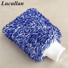 Lucullan Максимальная впитывающая перчатка высокая плотность микрофибра Премиум Автомойка рукавица без царапин идеально подходит для повседневной детализации
