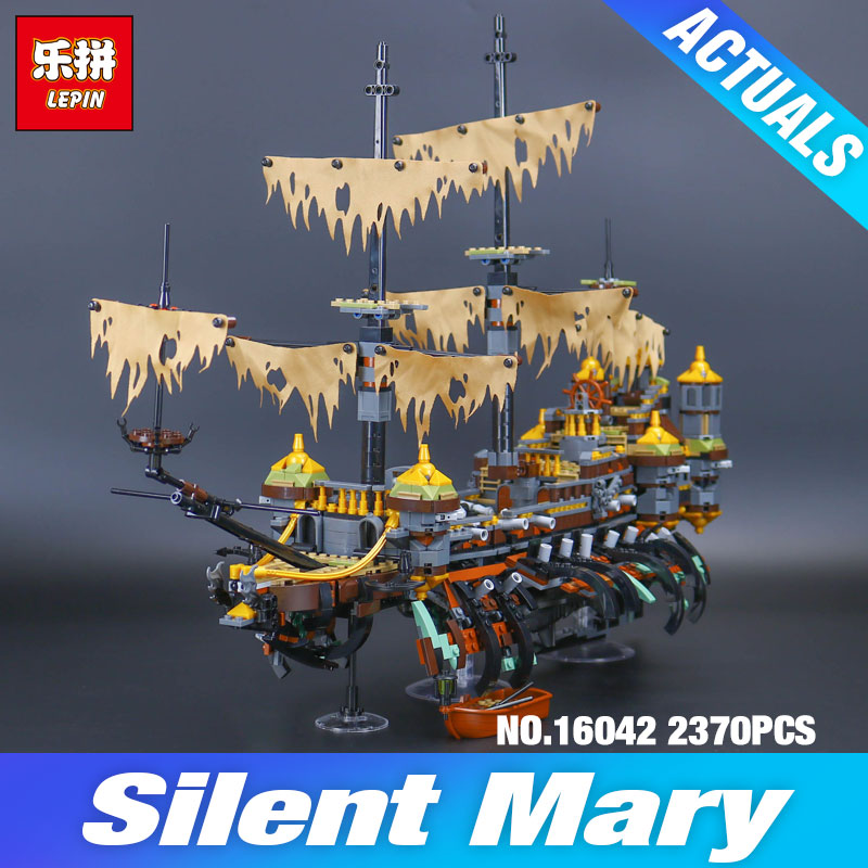 DHL Lepin 16042 Pirate Ship Series 71042 Slient Mary Set Children Toys Educational Building Blocks Bricks Model Christmas Gifts lepin 16042 2344pcs pirate of the caribbean ship slient mary children educational building blocks bricks compatible 71042 toys
